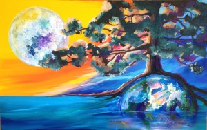 Rising Moon and Earth : Tree of Life Series Marjorie Schoelles