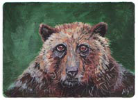 SOLD - small ACEO bear